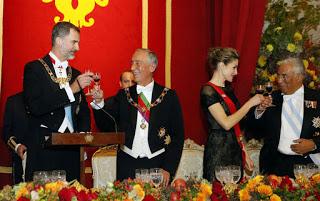 Vinhos do jantar de gala aos Reis de Espanha