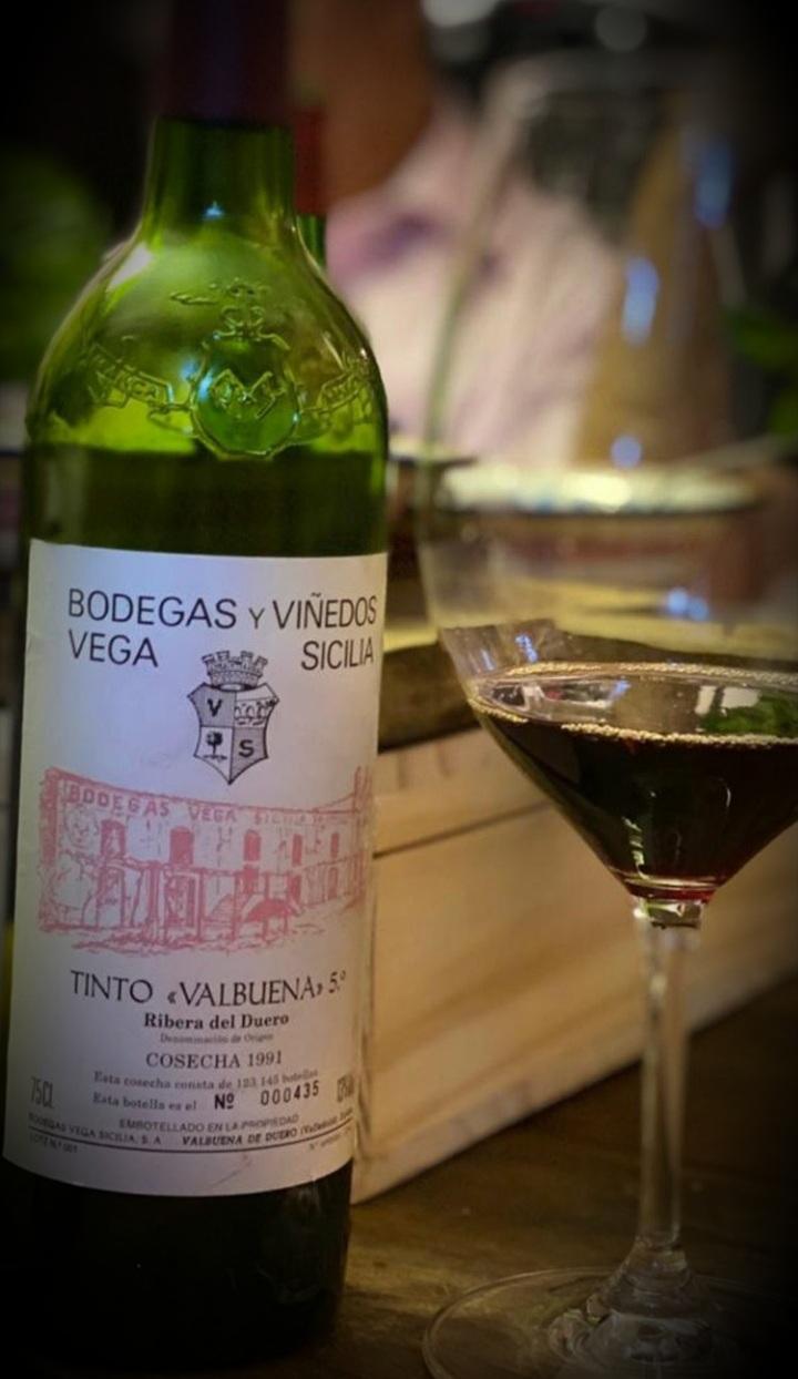 Tornedó à minha maneira e Vega Sicilia Valbuena 5 Ribera del Duero tinto 1991